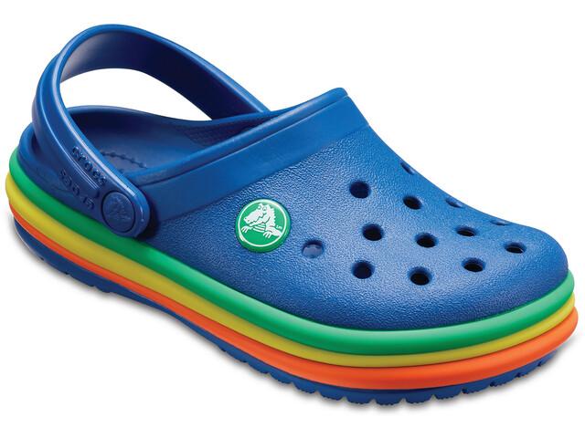 Crocs CB Rainbow Band - Sandales Enfant - bleu